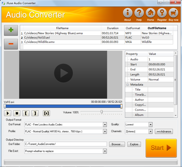 Click to view Jfuse Audio Converter 1.24 screenshot