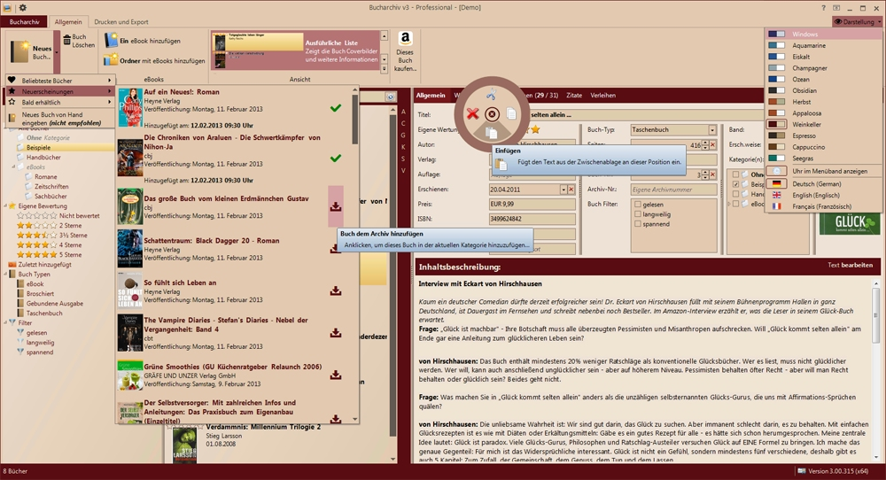 Click to view Bucharchiv v3 3.00.347 screenshot