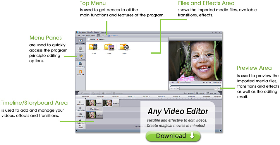 Click to view Any Video Editor Pro. 1.3.6 screenshot