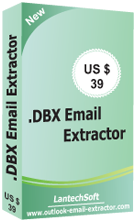 Click to view DBX Emails Extractor 0.0.0.0 screenshot