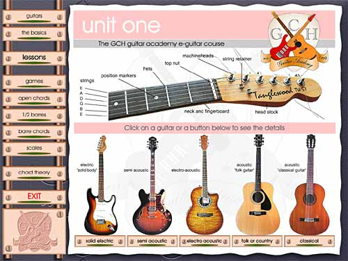 Click to view Learn to play Guitar (Unit 1) 3.50 screenshot