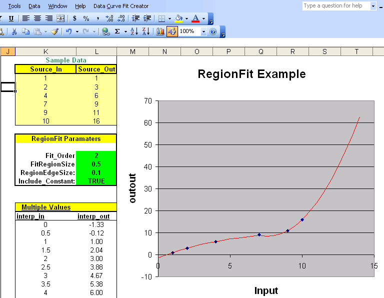 Click to view Data Curve Fit Creator Add-in 2.5 screenshot