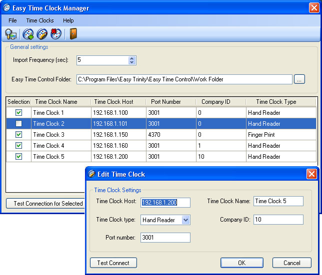 Click to view Easy Time Clock Driver 2.3.28.44 screenshot