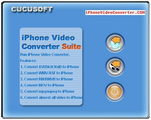 Click to view iPhone Movie Converter 6.8 screenshot