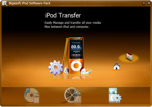 Click to view Bigasoft iPod Software Pack 1.2.1.4321 screenshot