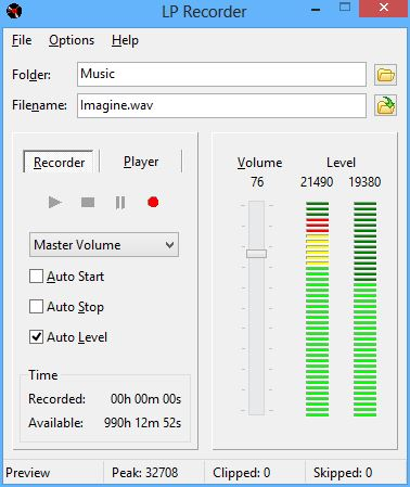 Click to view LP Recorder 11.0.0 screenshot