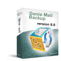 Click to view Genie Mail Backup 8.0 screenshot