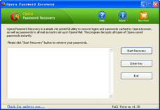 Click to view Opera Password Recovery 2.0 screenshot