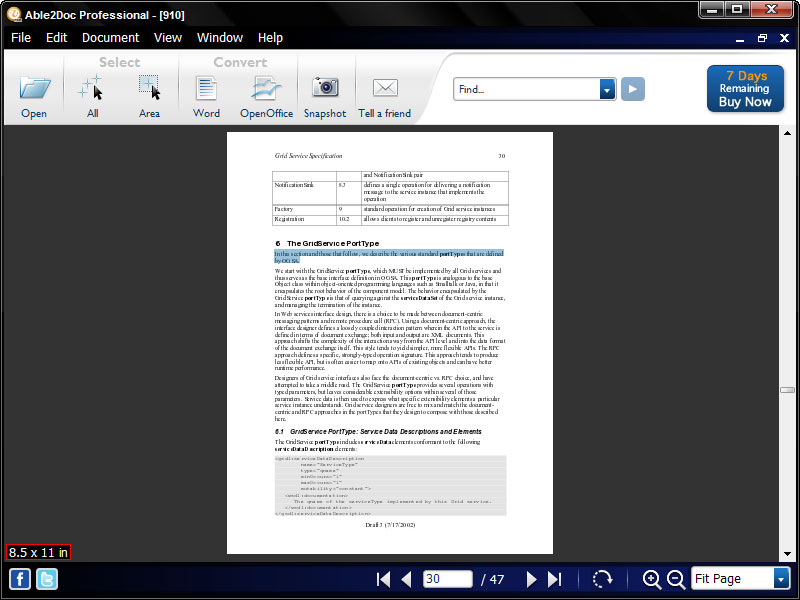 Click to view Able2Doc Professional 6.00 screenshot