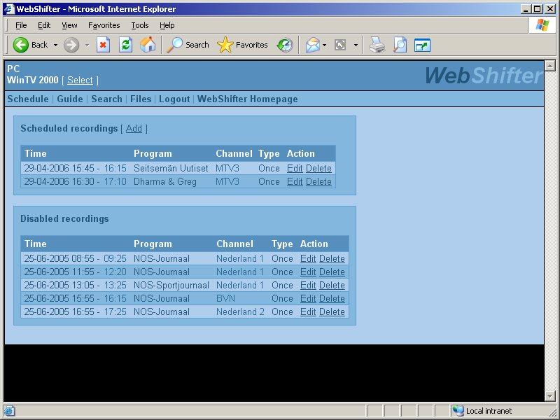 Click to view WebShifter 2007.0215 screenshot