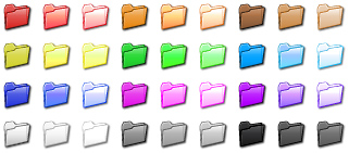 Click to view Folder Color Icon Set 1.0 screenshot