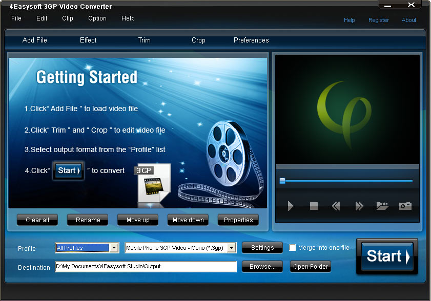 Click to view 4Videosoft 3GP Video Converter 3.1.10 screenshot