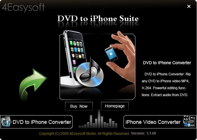 Click to view 4Easysoft DVD to iPhone Suite 3.2.26 screenshot