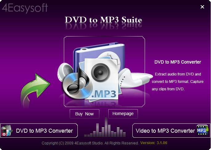 Click to view 4Easysoft DVD to MP3 Suite 3.1.06 screenshot
