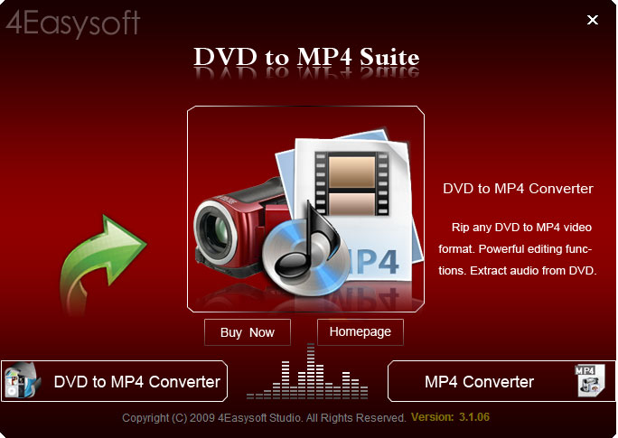 Click to view 4Easysoft DVD to MP4 Suite 4.0.08 screenshot