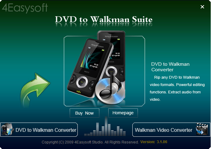 Click to view 4Easysoft DVD to Walkman Suite 3.2.28 screenshot