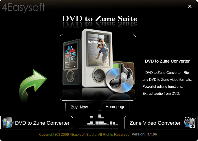 Screenshot for 4Easysoft DVD to Zune Suite 3.1.06