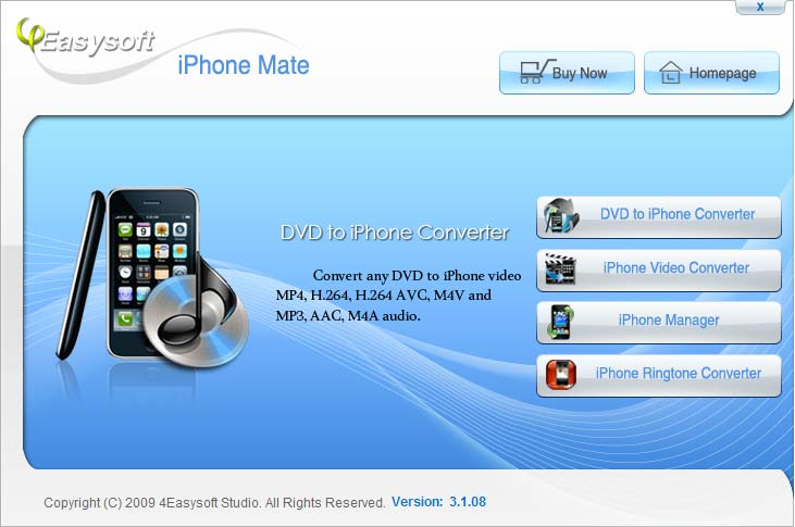 Click to view 4Easysoft iPhone Mate 4.2.26 screenshot