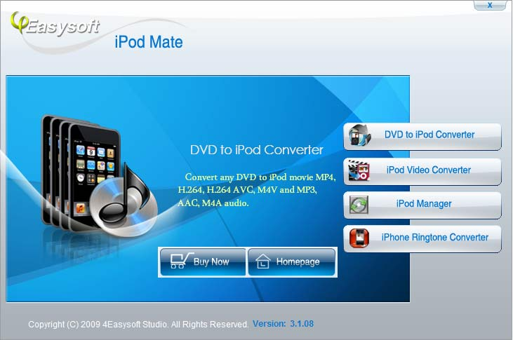 Click to view 4Easysoft iPod Mate 4.1.10 screenshot