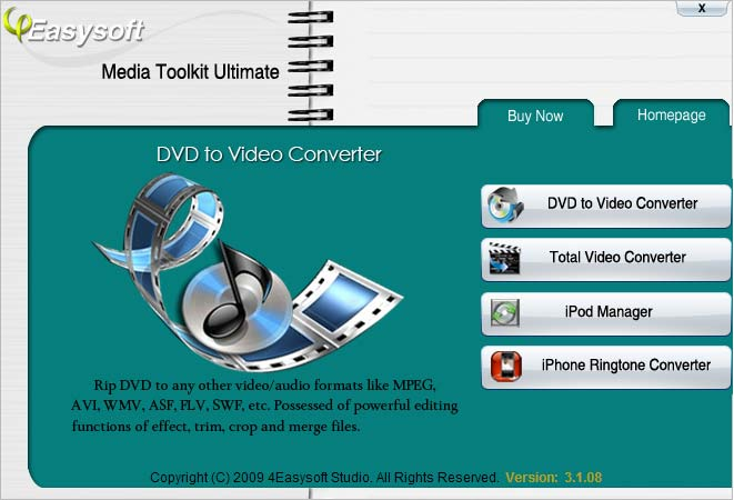 Click to view 4Easysoft Media Toolkit Ultimate 4.2.20 screenshot