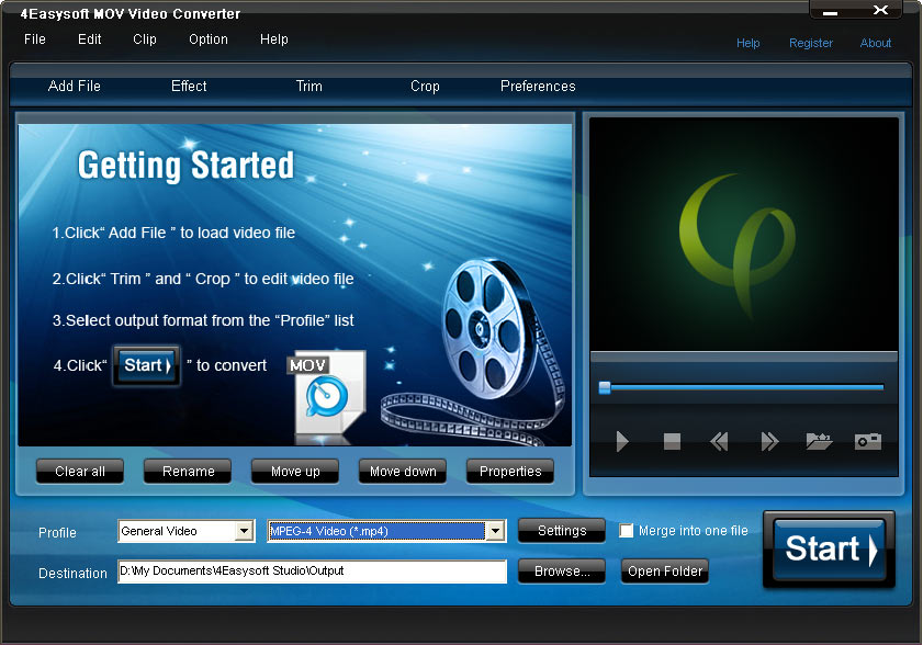 Click to view 4Easysoft MOV Video Converter 3.1.38 screenshot