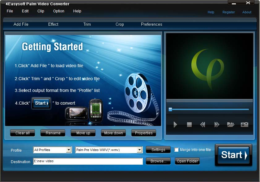 Click to view 4Easysoft Palm Video Converter 3.1.22 screenshot