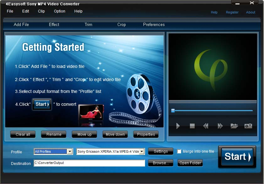 Click to view 4Easysoft Sony MP4 Video Converter 3.3.02 screenshot