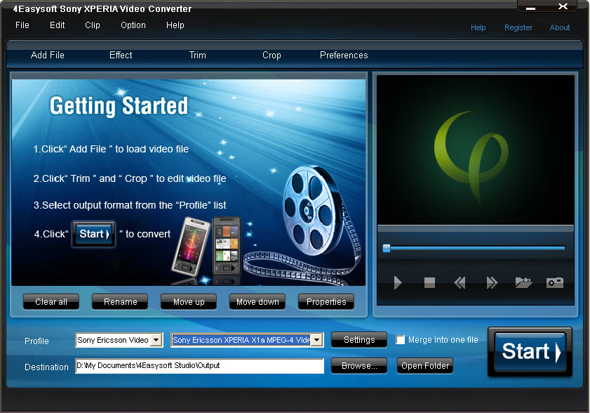 Click to view 4Easysoft Sony XPERIA Video Converter 3.1.28 screenshot