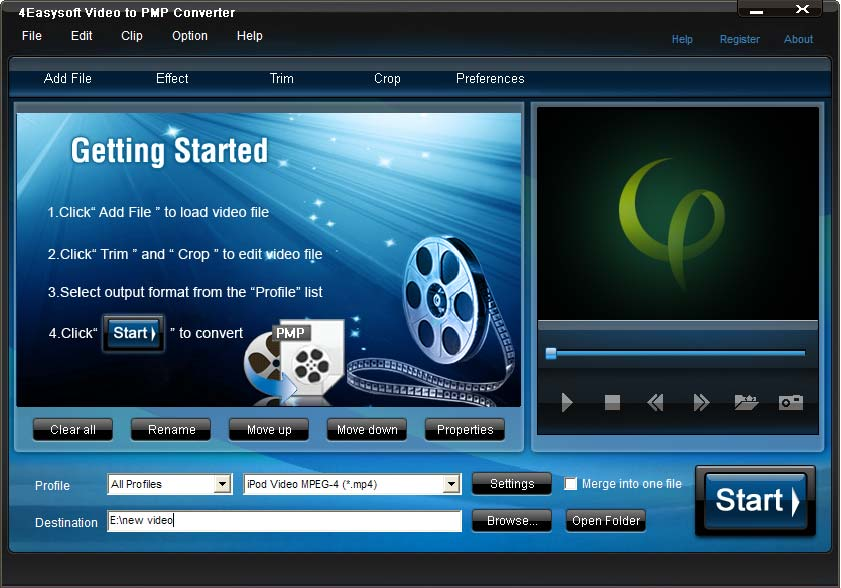 Click to view 4Easysoft Video to PMP Converter 3.1.18 screenshot