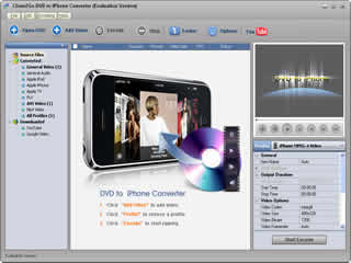 Click to view Clone2Go DVD to iPhone Converter 2.8.0 screenshot