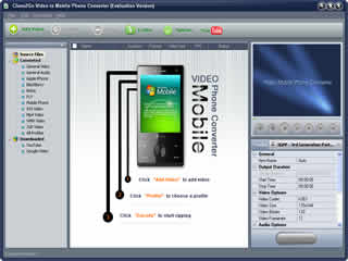 Click to view Clone2Go Video to Mobile Phone Converter 2.5.0 screenshot