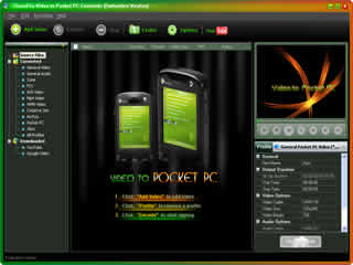 Click to view Clone2Go Video to Pocket PC Converter 2.5.0 screenshot