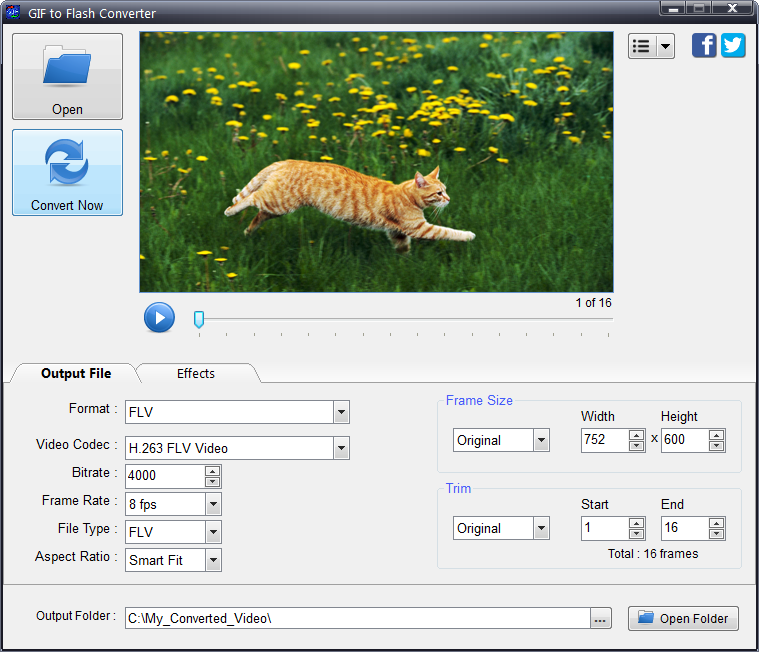 Click to view GIF to Flash Converter 3.9 screenshot
