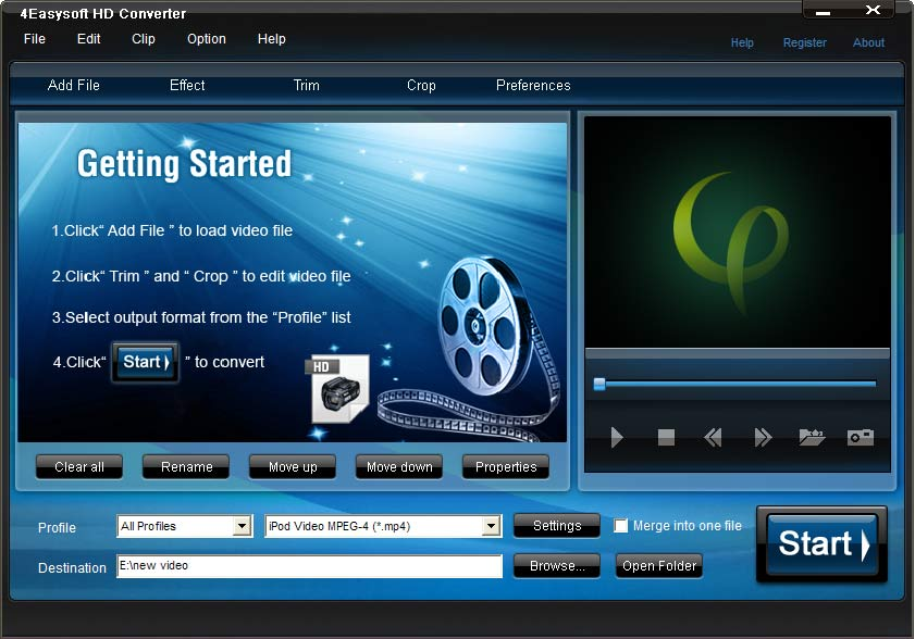 Click to view 4Easysoft HD Converter 4.1.20 screenshot