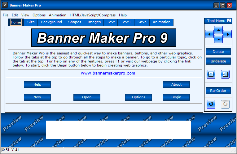 Click to view Banner Maker Pro 9.03 screenshot