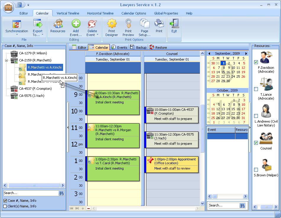 Click to view Lawyers Service 2.8 screenshot