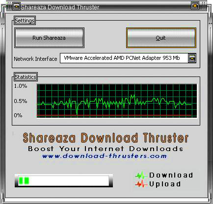 Click to view Shareaza Download Thruster 3.7.0 screenshot