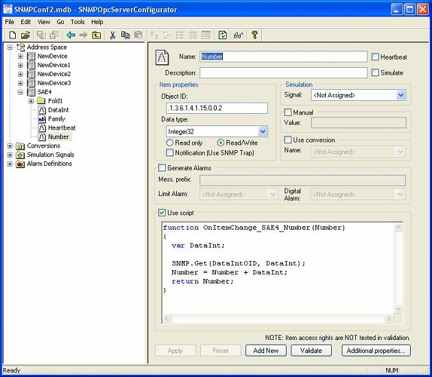 Click to view SAEAUT SNMP OPC Server Professional 3.02.0.0 screenshot