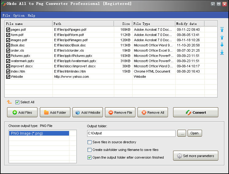 Click to view Okdo All to Png Converter Professional 5.4 screenshot