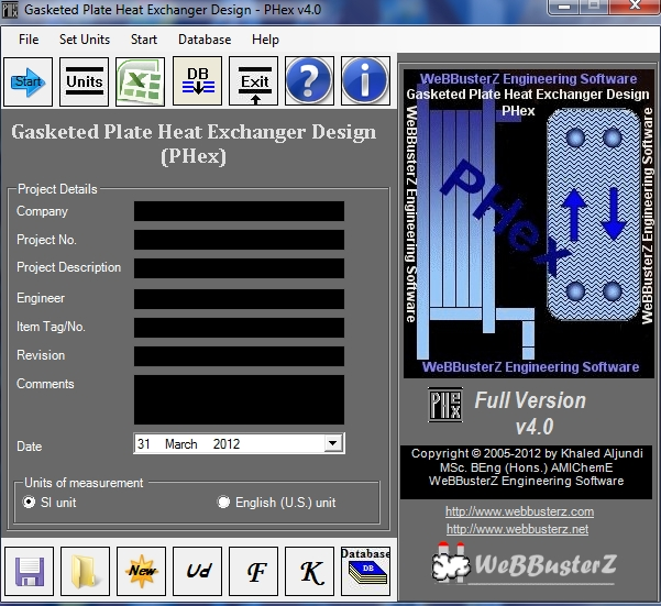 Click to view Gasketed Plate Heat Exchanger Design 4.0.0.1 screenshot