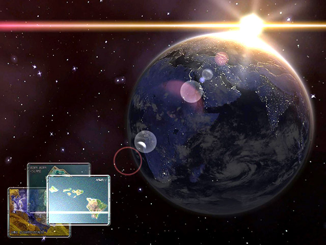 Click to view Earth 3D Space Travel Screensaver 1.0.3 screenshot