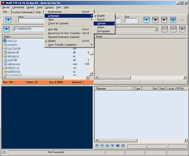 Click to view Staff-FTP 3.03 screenshot