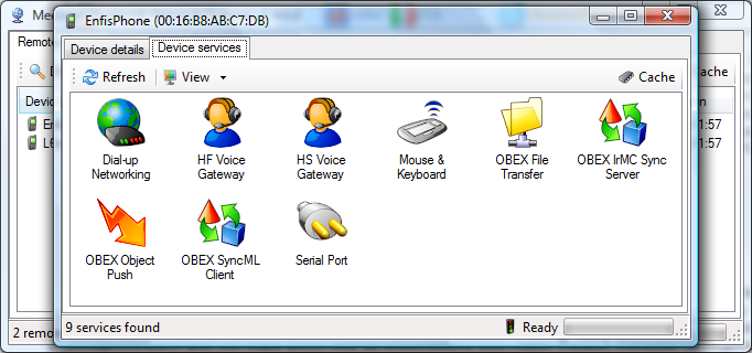 Click to view Bluetooth Network Scanner 1.4.0.0 screenshot