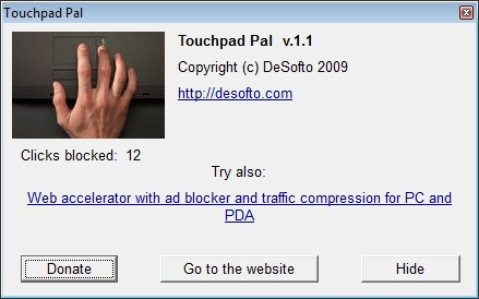 Click to view Touchpad Pal 1.4 screenshot