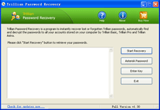 Click to view Trillian Password Recovery 1.3 screenshot