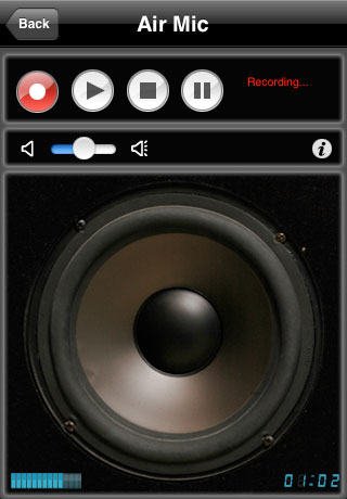 Click to view Air Mic Live Audio for iPhone/iPod Touch (Windows  1.1 screenshot