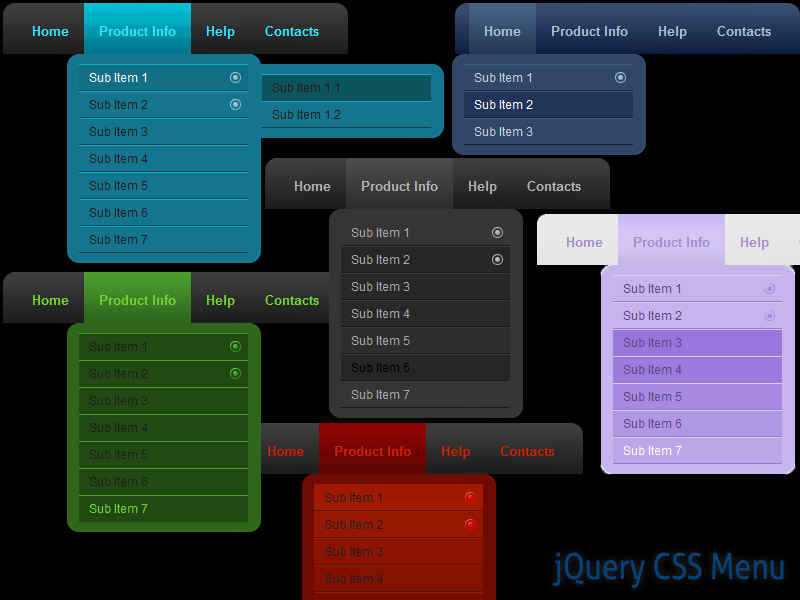 Click to view jQuery CSS Menu Style 06 1.5 screenshot