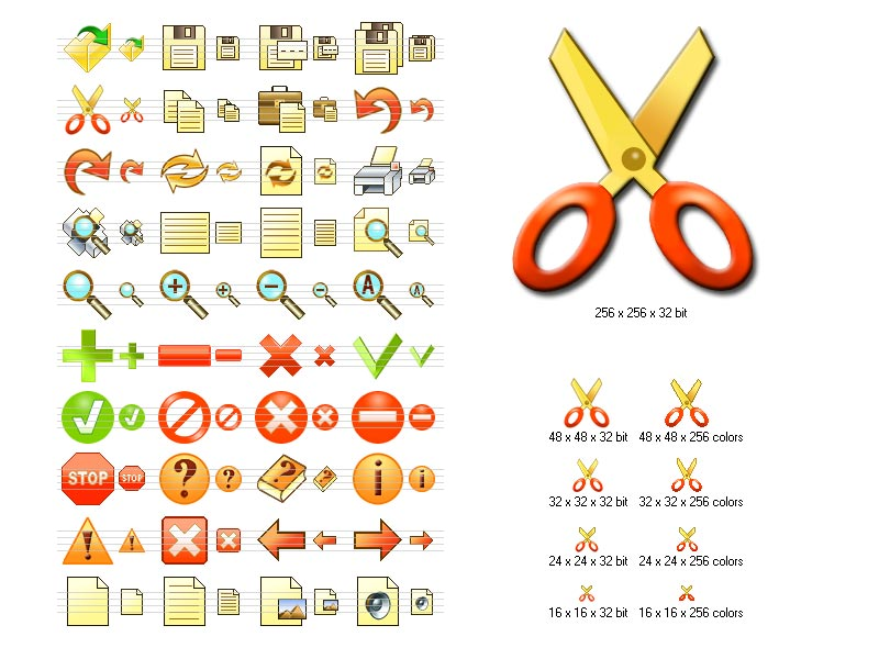 Click to view Fire Toolbar Icons 2013.2 screenshot
