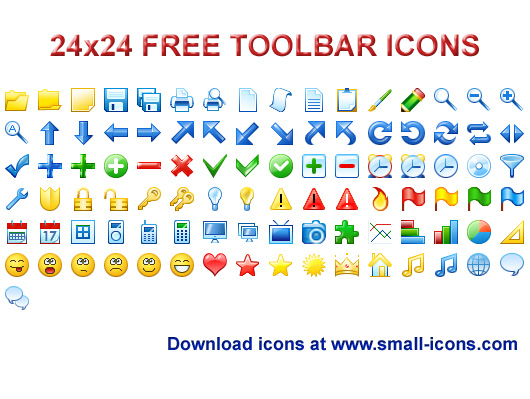 Click to view 24x24 Free Toolbar Icons 2013.2 screenshot