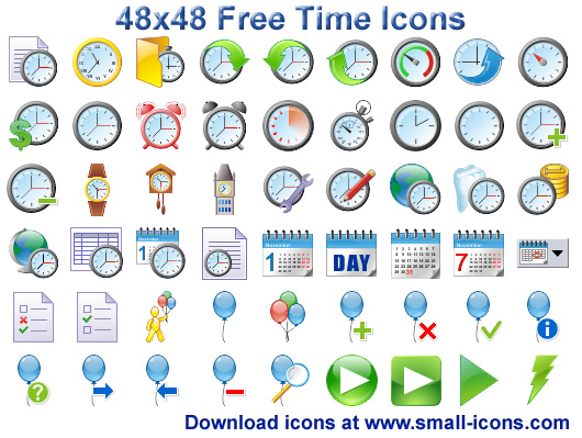Click to view 48x48 Free Time Icons 2013.1 screenshot